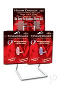 Tongue Dinger Night Stroker Vibrating Silicone Tongue Ring...