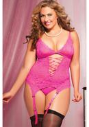 Midnight Affair 3pc Cami -pink- Q/s