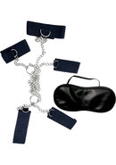 Dominant Submissive 4 Cuffs And Collar Black