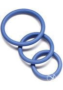 Nitrile Cock Ring Set 3 Sizes Per Pack Blue