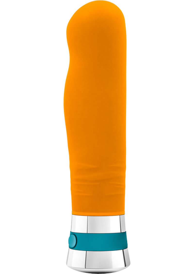 Aria Lucent Silicone Vibrator Waterproof Tangerine 6 Inch